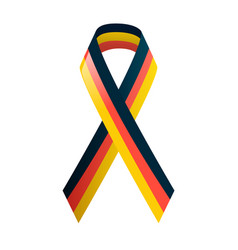 German flag ribbon in national colors black red vector