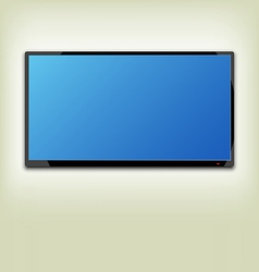 Lcd or led tv screen hanging on the wall vector