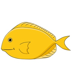 Yellow royal fish vector