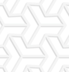 3d white three ray hexagonal stars vector