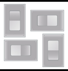 Silver onoff switch vector