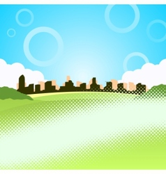 of city vector image