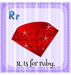 Alphabet r is for ruby vector