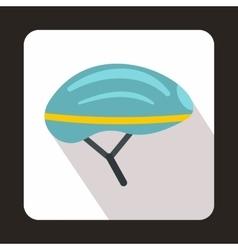 Bicycle helmet icon flat style vector