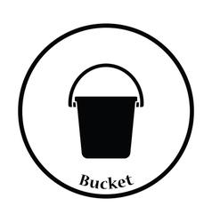 Icon of bucket vector