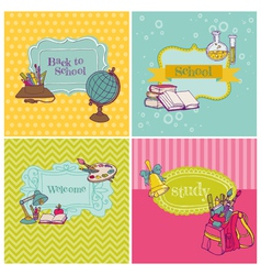 Card Collection - Back to School vector image