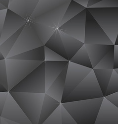 Abstract Dark Triangles Background vector image vector image