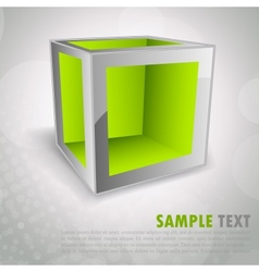 Background with cube vector