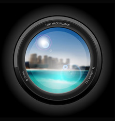 beautiful cityscape to the beach vector image vector image
