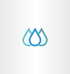 Blue natural drop of water icon element vector