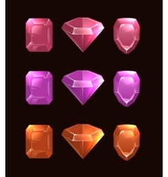 Cartoon of gems and diamonds vector image