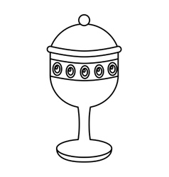 Chalice cup gift epiphany vector