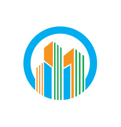 Circle building company logo vector