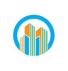 circle building company logo vector image