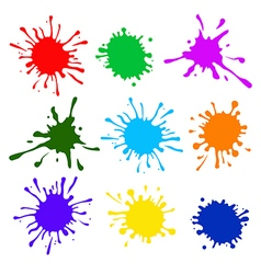 Colorful splatters vector image vector image