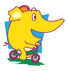 Cycle elephant vector