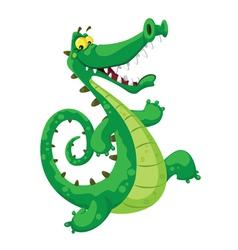 Funny crocodile vector