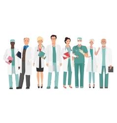 Hospital medical staff Team doctors together vector image