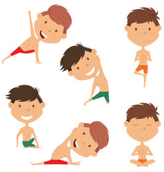 male yoga collection vector image