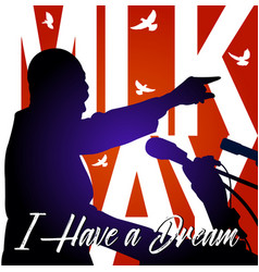 martin luther king day background vector image vector image