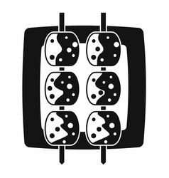 Meat shashlik icon simple style vector