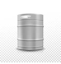 Metal beer keg with grained vector
