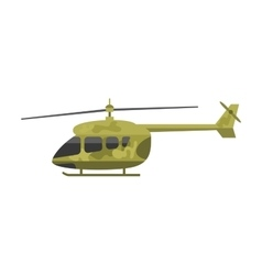 Military helicopter air transportation vector