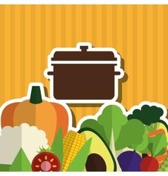 Organic food design healthy food menu concept vector