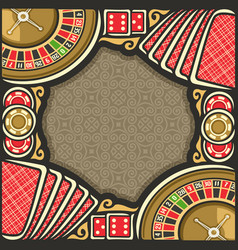 poster for casino vector image vector image