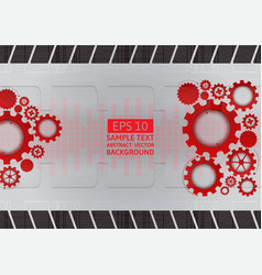 red and gray gear abstract background with copy vector image vector image