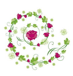 Roses flourishes vector