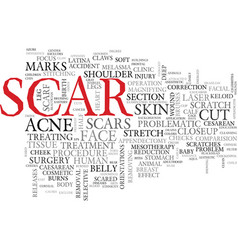 Scar word cloud concept vector