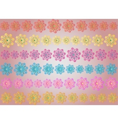 seamless - abstract flower pattern vector image