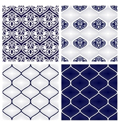 Set of seamless patterns in arabian style vector image