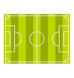 Soccer field or football grass field icon isolated vector