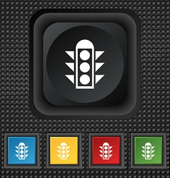 Traffic light signal icon sign symbol squared vector