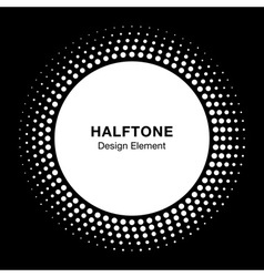 White Halftone Logo Design Element vector image