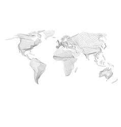World map Abstract vintage computer graphic of vector image
