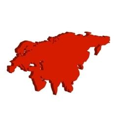 Eurasia continent bulk vector