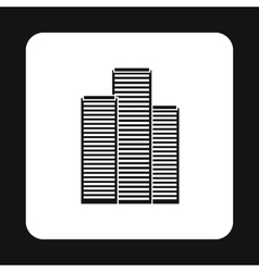 Skyscrapers icon simple style vector