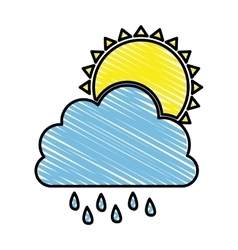 Rain and cloud icon image vector