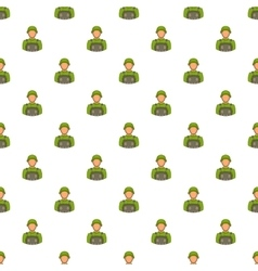 Soldier pattern cartoon style vector
