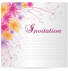 Flower invitation vector