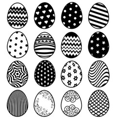 Set of eggs for easter day vector
