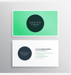 modern business card with stripes vector image