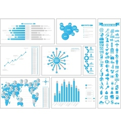 Infographic demographics 3 vector