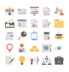 Business flat colored icons 1 vector