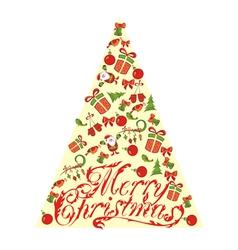 Beautiful Xmas tree for Merry Christmas celebratio vector image