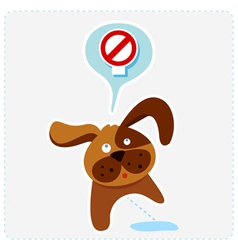 dog with sign vector image