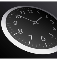 Classic time clock web vector